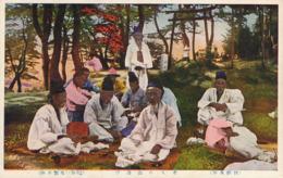 Group Of Korean Old Men  . Hand Colored - Korea (Zuid)