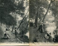 Lot De 2 CPA - PONT AVEN - Le Bois D'Amour, Animé - Pont Aven
