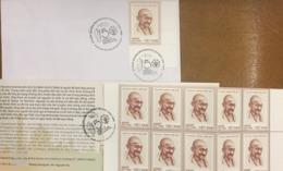 Viet Nam Vietnam Booklet 2019 : 150th Birth Anniversary Of Mahatma Gandhi (Ms1115) - Sent By  FDC As Shown - Vietnam
