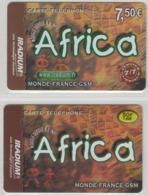 Lot De 2 Cartes Prépayées Différentes - IRADIUM AFRICA   -  Prépaid  - (valeur Et/ou Verso  Différent) - Andere Voorafbetaalde Kaarten