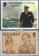 Gb - Île Homme 172,193 (complète.Edition.) Neuf Avec Gomme Originale 1980 King Olav, Droit De Vote Des Femmes - Man (Eiland)