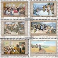 North-Korea 1607-1612 (complete Issue) Fine Used / Cancelled 1977 Kim II Sung: Paintings - Korea, North