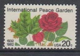 USA 1982 International Peace Garden 1v ** Mnh (45081K) - Nuovi