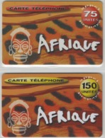 Lot De 2 Cartes Prépayées Différentes - AFRIQUE  -  Prépaid  - (valeur Et/ou Verso  Différent) - Andere Voorafbetaalde Kaarten
