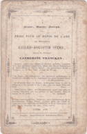 DOODSPRENTJE-PIEUSE-TONGEREN-GILLES-AUGUSTIN-IVENS-CATHERINE VRANCKEN+22.05.1861-LA FLAGELLATION-DOPTER-ZIE 2 SCANS - Images Religieuses
