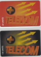 Lot De 2 Cartes Prépayées Différentes - TELECOM +  -  Prépaid  - (valeur Et/ou Verso  Différent) - Andere Voorafbetaalde Kaarten