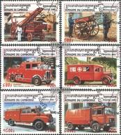 Cambodia 2162-2167 (complete Issue) Fine Used / Cancelled 2001 Fire Truck - Cambodia