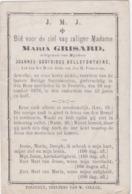 DOODSPRENTJE-PIEUSE-TONGEREN-VREEREN-MARIA GRISARD-JOANNES-BELLEFONTAINE+19.09.1876-ST.JOSEPH-DOPTER-ZIE 2 SCANS - Images Religieuses