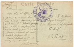 """DIEPPE  -  Jour De Tempête  /  Au Verso :  Oblitération  """" Ministère De La Guerre Contrôle Postal Dieppe """" - Guerra De 1914-18"""