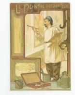 Cpm Métier Le Peintre Décorateur Art Nouveau éditée Pour La 6e Rencontres Internationales Des Peintres Paris 2001 - Artisanat