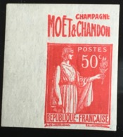 Pub Carnet Non Dentelé  Paix 50c 283   Publicitaire  Publicité - France