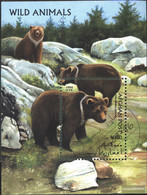Afghanistan Block87 (complete Issue) Fine Used / Cancelled 1996 Bears - Afghanistan