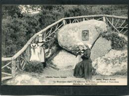 CPA - PONT AVEN - Le Monument élevé à La Mémoire De Brizeux Par Botrel, Animé - Pont Aven
