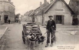 45 Ouzouer Sur Loire, Le Boulanger Et Son Attelage, Attelage De Chiens - Ouzouer Sur Loire