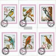 Sharjah Block1178B-Block1183B (complete Issue) Fine Used / Cancelled 1972 Birds - Sharjah