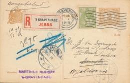 Nederland - 1919 - 3 Cent Bontkraag Op 2 Cent Briefkaart G88 - Aangetekend - BRIEVENBUS - Van Den Haag Naar Apeldoorn - 1891-1948 (Wilhelmine)