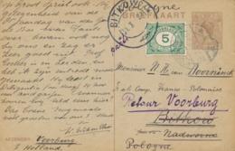 Nederland - 1922 - 5 Cent Cijfer Op 7,5 Cent Briefkaart G194 Van Voorburg Naar Bitkow / Polska - En Retour / Parti - Periode 1891-1948 (Wilhelmina)
