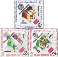 Yemen (UK) 1144A-1146A (complete Issue) Fine Used / Cancelled 1970 Football-WM '70, Mexico - Yemen