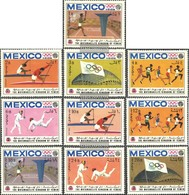 Yemen (UK) 493A-502A (complete Issue) Fine Used / Cancelled 1968 Olympic. Summer '68, Mexico - Yemen