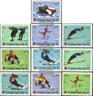 Yemen (UK) 454A-463A (complete Issue) Fine Used / Cancelled 1968 Olympic. Winter Games '68 Grenoble - Yemen