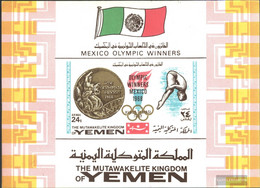 Yemen (UK) Block142b (complete Issue) Unmounted Mint / Never Hinged 1968 Gold Medalists '68 - Yemen