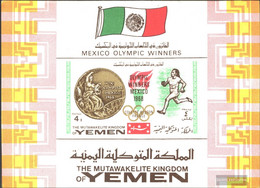 Yemen (UK) Block141b (complete Issue) Unmounted Mint / Never Hinged 1968 Gold Medalists '68 - Yemen