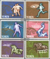 Yemen (UK) 196A-201A (complete Issue) Unmounted Mint / Never Hinged 1965 Olympic '64, Tokyo - Yemen