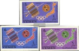 Yemen (UK) 145B-147B (complete Issue) Unmounted Mint / Never Hinged 1965 Boarding. Telecommunication Union (UIT) - Yemen