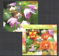 ML415 2014 MALDIVES FLORA PLANTS FLOWERS ORCHIDS KB+BL MNH - Orquideas