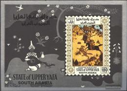 Aden - Upper Yafa Block10 (complete Issue) Unmounted Mint / Never Hinged 1967 Persian Miniatures - Yemen