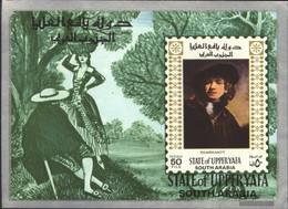 Aden - Upper Yafa Block7 (complete Issue) Unmounted Mint / Never Hinged 1967 Paintings - Yemen