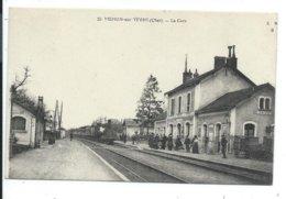 Mehun Sur Yevre La Gare ,train ,locomotive à Vapeur - Mehun-sur-Yèvre