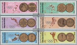 North Yemen (Arab Republic.) 761-766 (complete Issue) Fine Used / Cancelled 1968 Olympic. Winter Games '68 Grenoble - Yemen