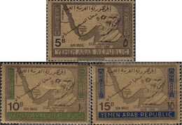North Yemen (Arab Republic.) 734-736 (complete Issue) Fine Used / Cancelled 1968 Dr. Konrad Adenauer - Yemen