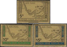 North Yemen (Arab Republic.) 719-721 (complete Issue) Fine Used / Cancelled 1968 Dr. Konrad Adenauer - Yemen