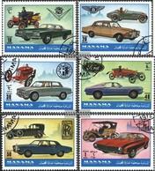 Manama 946-951 (complete Issue) Fine Used / Cancelled 1972 Automobile - Manama