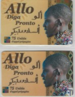 Lot De 2 Cartes Prépayées Différentes - ALLO DIGA PRONTO   -  Prépaid  - (valeur Et/ou Verso  Différent) - Andere Voorafbetaalde Kaarten