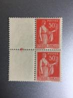 Paix 50c 283  Type Se Tenant I Et III  Variété - Ungebraucht