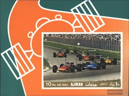 Ajman Block91b (complete Issue) Unmounted Mint / Never Hinged 1969 Racecar - United Arab Emirates