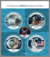 MALDIVES 2019 MNH Apollo 11 Landing Landung Atterrissage M/S - OFFICIAL ISSUE - DH1928 - Spazio