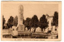 NANCY - Place De La Croix De Bourgogne Et Monument - Nancy