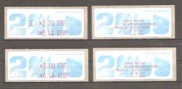 Vignettes ATM Neuves Avec Parité FRF/EUR: E2,70F. Et 3,00F.du 26/02/2000. > 2ème Biennale Philatélique De PARIS. 2000. - 1999-2009 Vignette Illustrate