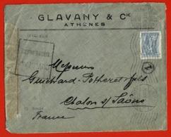 Lettre Athènes- Chalon Sur Saone 1915 2 Scan - Grecia