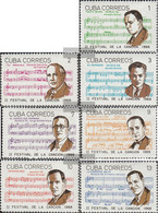 Cuba 1226-1232 (complete Issue) Unmounted Mint / Never Hinged 1966 Song Festival - Nuevos