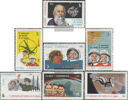 Cuba 1153-1159 (complete Issue) Unmounted Mint / Never Hinged 1966 Manned Spaceflight - Nuevos