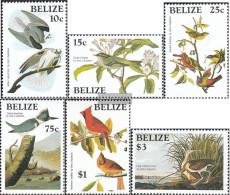 Belize Mi.-number.: 784-789 (complete Issue) Unmounted Mint / Never Hinged 1985 John James Audubon - Belize (1973-...)