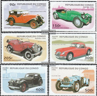 Kongo (Brazzaville) 1462-1467 (complete Issue) Unmounted Mint / Never Hinged 1996 Old Cars - Congo - Brazzaville