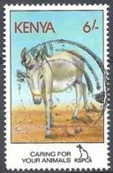 Kenya,1995 Donkey (Equus Asinus Asinus), 6sh # S.G. 637 - Michel 612 - Scott 637 USED - Kenya (1963-...)