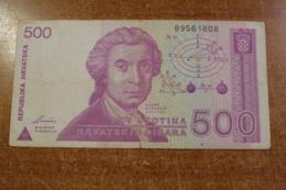 Croatia 500 Dinar 1991 - Croacia