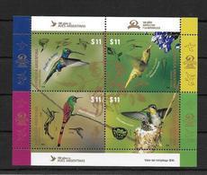 PICAFLOR PICAFLORES COLIBRIS TROCHILIDAE HUMMINGBIRD - ARGETNINA AÑO 2016 HOJITA BLOC FEUILLET MNH - LILHU - Colibríes